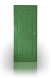 Portello di legno verde Fotografia Stock
