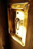 Portello di obbligazione della serratura dell'oro Fotografia Stock Libera da Diritti