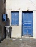 Portello e finestra blu Immagine Stock
