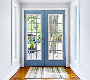 Portello francese di vetro del patio Fotografia Stock