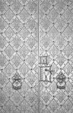 Portello metallico antico Fotografia Stock