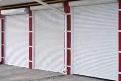 Portello metallico del garage del Brown Immagine Stock Libera da Diritti