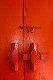 Portello rosso Fotografia Stock