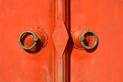 Portello rosso tradizionale della Tailandia Fotografie Stock