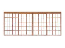 Portello scorrevole di legno fotografia stock