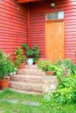 Portello sulla casa di legno Fotografia Stock Libera da Diritti