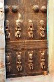 Portello tradizionale della casa intagliato Dogon Fotografia Stock Libera da Diritti