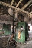 Portello verde abbandonato Fotografia Stock Libera da Diritti