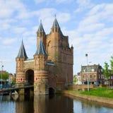 Porten av Amsterdam, Haarlem, Holland Arkivbild