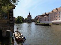 Porten av Bamberg Arkivfoton