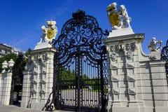 Porten av Belvedereslotten, Wien arkivbild