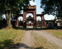 Porten av den judiska kyrkogården Arkivbild