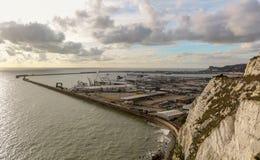 Porten av Dover i Kent United Kingdom arkivbilder