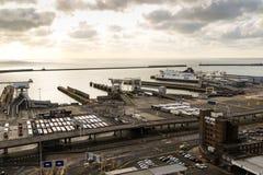 Porten av Dover i Kent United Kingdom royaltyfria bilder
