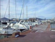Porten i flottan de Saint Tropez Arkivfoto