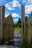 Porten med ett kors Royaltyfria Foton