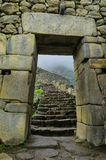 porten till Machupichu royaltyfri fotografi