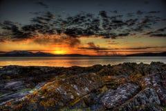portencross ηλιοβασίλεμα Στοκ Εικόνες