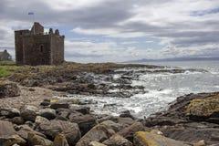 Portencross Castle located in Portencross. On the west coast of Scotland, near West Kilbride stock photos