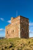 Portencross Castle near Largs in Scotland UK. Ruined castle in Portencross, near Largs, in Ayrshire, Scotland, UK Royalty Free Stock Images
