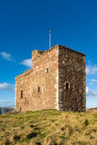 Portencross Schloss nahe Largs in Schottland Großbritannien Lizenzfreie Stockbilder