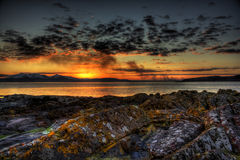 Portencross sunset Stock Photo
