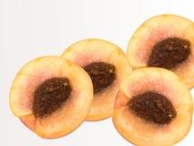 Portent des fruits une pêche un abricot un hybride photos stock