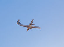 Porter Bombardier Aircraft in the Sky Stock Images