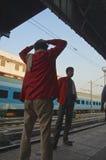 Porter Delhi railway station Royalty Free Stock Photo