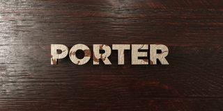 Porter - grungy wooden headline on Maple  - 3D rendered royalty free stock image Royalty Free Stock Images