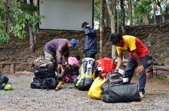 Porter on Phu Kradueng trail Royalty Free Stock Images