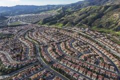 Porter Ranch Aerial View a Los Angeles California Fotografia Stock