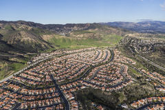 Porter Ranch Los Angeles Aerial Lizenzfreies Stockfoto