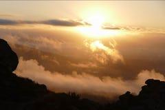 Porter Ranch Sunrise in Los Angeles California Stock Photo
