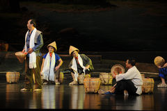 The porter in the rest of the conversation- Jiangxi opera a steelyard Royalty Free Stock Photos