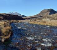 Porter River et colline de château au printemps, le Nouvelle-Zélande Photographie stock libre de droits
