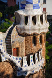 Porter's Lodge Pavilion in Park Guell Stock Photo