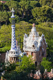 Porter's Lodge Pavilions in Park Guell by Antoni Gaudi Stock Image