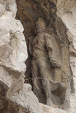 Porter's statue rock carving at Longmen Grottoes, Luoyang , Hena Royalty Free Stock Photo