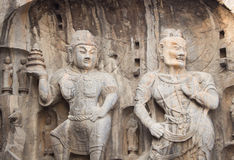 Porter's statue rock carving at Longmen Grottoes, Luoyang , Hena Royalty Free Stock Photos