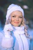 Porteret śniegu dziewczyna Zdjęcia Royalty Free
