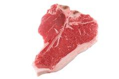 Porterhouse. Cut steak isolated on white Royalty Free Stock Photography