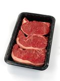 Porterhouse Meat Tray Stock Photography