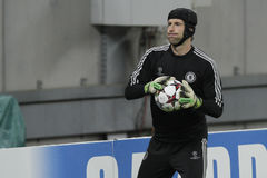 Portero del fútbol - Petr Cech Fotos de archivo