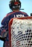 Portero del hockey Imagen de archivo libre de regalías