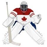Portero del hockey de Canadá de las personas Fotos de archivo