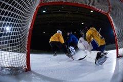 Portero del hockey sobre hielo Imagen de archivo libre de regalías