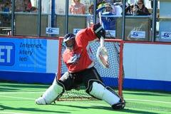 Portero del lacrosse del rectángulo - Pavel Krehlik Foto de archivo libre de regalías