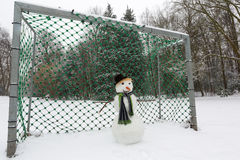 Portero del muñeco de nieve Foto de archivo