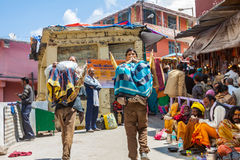 Porters at Badrinath, North India. Stock Photo